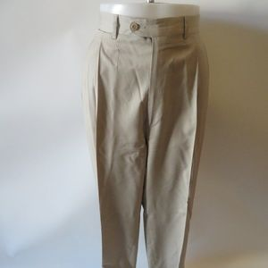ERMENEGILDO ZENGA KHAKI DRESS PANTS SZ 38*